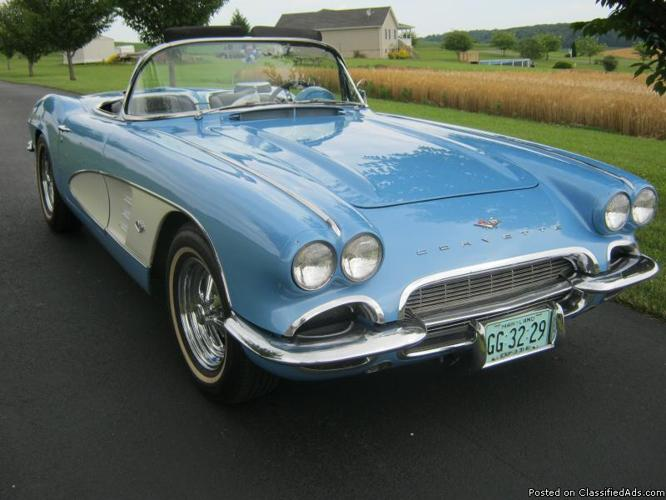 1961 corvette convertible for sale in manchester maryland. Black Bedroom Furniture Sets. Home Design Ideas