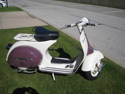 1961 Vespa Burgundybeige For Sale In Panama City Florida