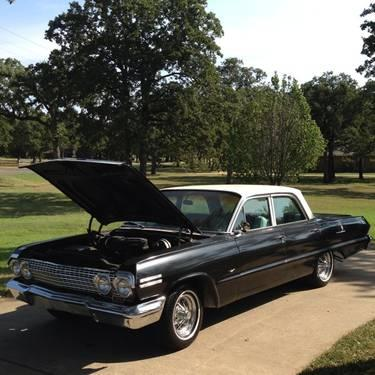 1963 chevy impala 4 door post for sale in burleson texas classified. Black Bedroom Furniture Sets. Home Design Ideas