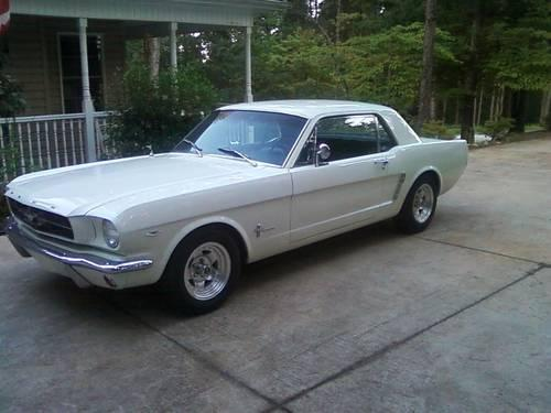 1964 1 2 mustang original 289 engine white for sale in elberton georgia classified. Black Bedroom Furniture Sets. Home Design Ideas