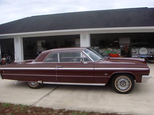 1964 chevrolet impala ss hardtop 409 425 hp engine palomar red for sale in saint cloud florida. Black Bedroom Furniture Sets. Home Design Ideas