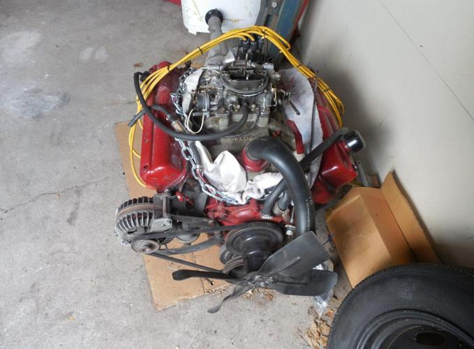 1964 Dodge 318 Poly engine and transmission