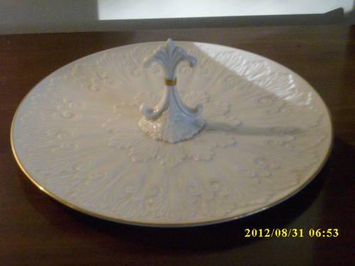 1964 Lenox Ivory Procrlian Carved Bone China W24k Gold Trim 9