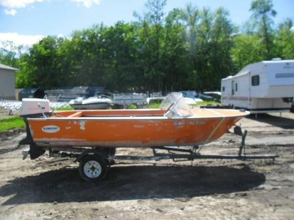 1966 15 39 alum duracraft boat and motor for sale in for Boat motors for sale mn