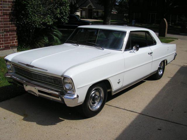 1966 Chevrolet Nova Ss 327 4 Speed Ermine White For Sale In