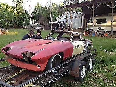 1966 Corvette Coupe Project Tub w Frame Great Firewall 1965