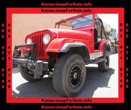 1966 kaiser cj5 jeep 4x4 for sale in phoenix arizona. Black Bedroom Furniture Sets. Home Design Ideas