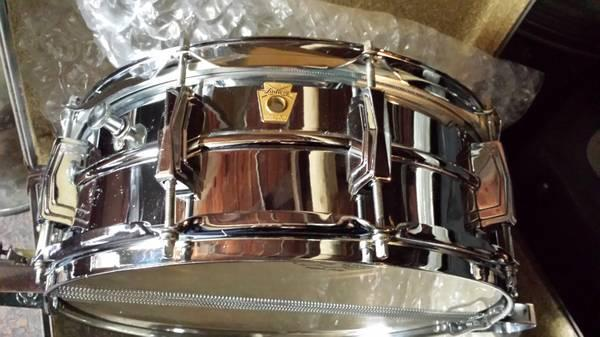 1966 Ludwig super sensitive snare drum keystone 1 owner w case - $350
