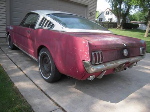 1966 mustang fastback for sale in wonder lake illinois classified. Black Bedroom Furniture Sets. Home Design Ideas