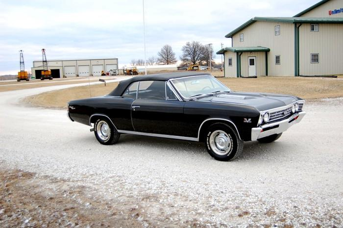 1967 Chevrolet Chevelle SS Black Convertible