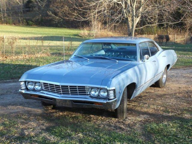 1967 chevrolet impala 4 door hard top factory a c 327 engine low miles for sale in mcminnville. Black Bedroom Furniture Sets. Home Design Ideas