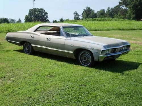 1967 chevrolet impala 4 door hardtop no post 67 chevy supernatural for sale in quebeck. Black Bedroom Furniture Sets. Home Design Ideas