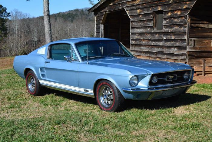 Classic 1967 Ford Mustang Fastback GT K code for Sale - Dyler  1967 Ford Mustang Fastback Blue