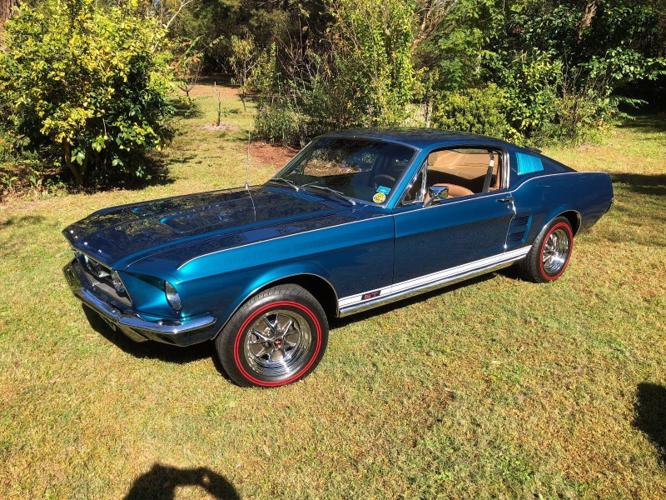 1967 Ford Mustang Gt Fastback A Cayman Blue For Sale In