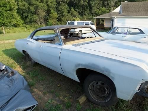 1967 impala 4 door hardtop chevrolet chevy project car for sale in algood tennessee classified. Black Bedroom Furniture Sets. Home Design Ideas