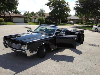 1967 Lincoln Continental Convertible Triple Black For Sale In