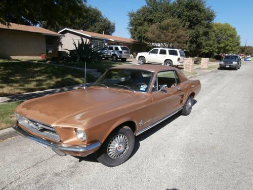 1967 mustang coupe original 289 v8 and c4 auto for sale in san antonio texas classified. Black Bedroom Furniture Sets. Home Design Ideas