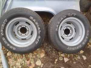 "1968-1972 10"" 6 lug corvette rally wheels with 295-50-15 like new (kuna) for Sale in Boise ..."