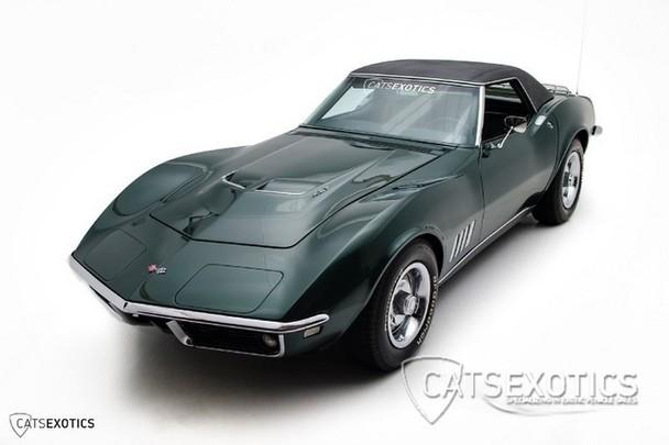 chevrolet corvette british green metallic rare black hardtop  miles price  request