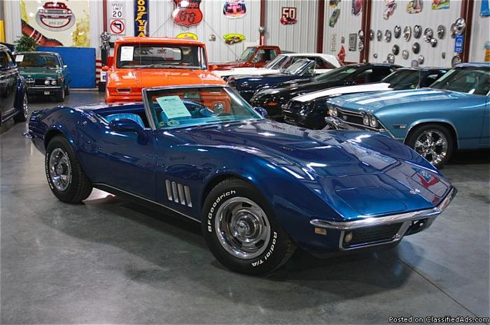 1968 chevrolet corvette convertible numbers matching 427 for sale in fenton missouri. Black Bedroom Furniture Sets. Home Design Ideas