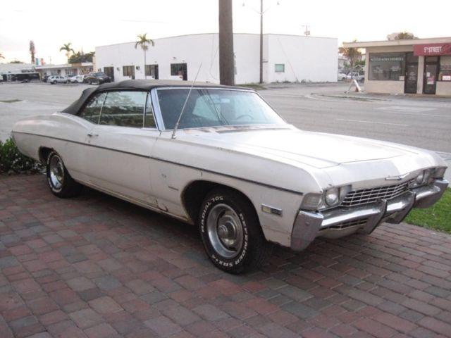 1968 Chevrolet Impala SS convertible with hideaway headlight