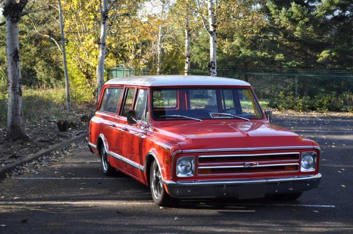 1968 Chevrolet R1500 Suburban Orange For Sale In Gilmore