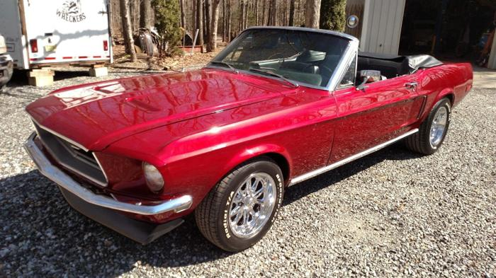 Auto Repair For Sale Miami: 1968 Ford Mustang Convertible Ruby Red For Sale In Miami