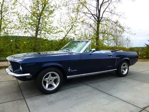 1968 ford mustang convertible for sale in gladstone. Black Bedroom Furniture Sets. Home Design Ideas