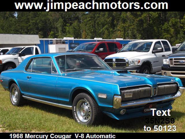 1968 mercury cougar xr7 for sale in brewton alabama for Jim peach motors brewton al