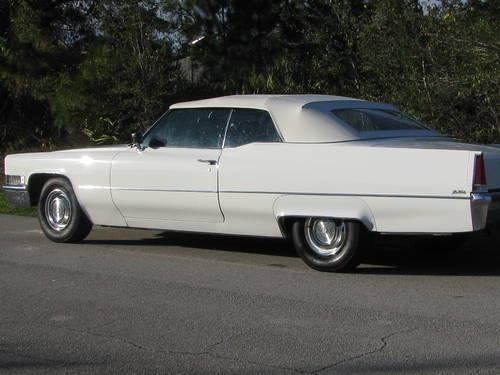 1969 cadillac convertible auto 8 cyl white for sale in fort pierce florida classified. Black Bedroom Furniture Sets. Home Design Ideas