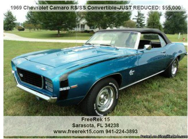 1969 chevrolet camaro rs ss convertible for sale in sarasota florida. Cars Review. Best American Auto & Cars Review