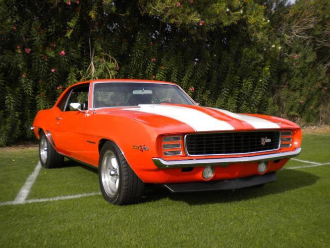 1969 Chevrolet Camaro Z28 Rs Hugger Orange With Deluxe Black