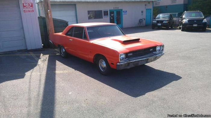 1969 dodge dart project car for sale in seattle washington classified. Black Bedroom Furniture Sets. Home Design Ideas