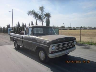 1969 ford f100 long bed pickup truck for sale in perris. Black Bedroom Furniture Sets. Home Design Ideas