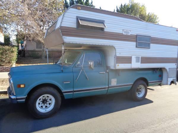 1969 GMC C-20 TRUCK V-8 LONG BED WITH CAMPER
