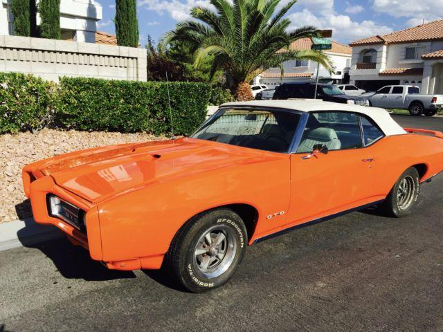 1969 pontiac gto convertible frame off restoration for for American restoration cars for sale