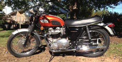 1969 Triumph Bonneville T120r For Sale In Inman South Carolina