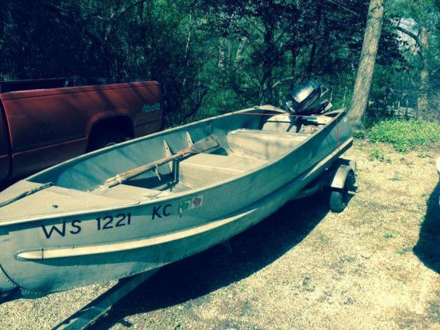 1970 blue star 14 ft aluminum fishing runabout boat for for 14 ft fishing boat