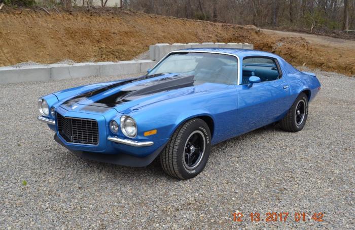 1970 Chevrolet Camaro RS 396 4SPD MULSANNE BLUE