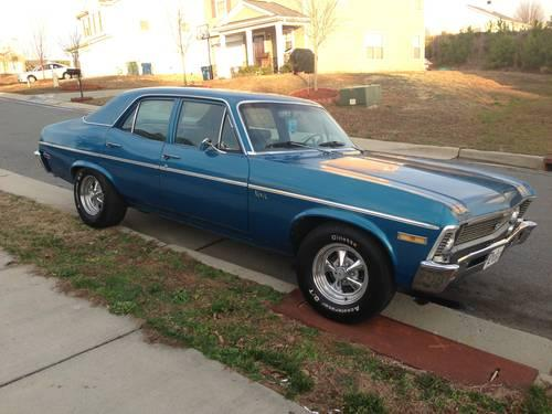 1970 chevy nova 4 door 350 engine and transmission for sale in durham north carolina. Black Bedroom Furniture Sets. Home Design Ideas