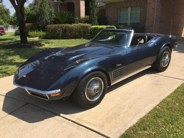 1970 corvette 454 convertible for sale in houston texas. Black Bedroom Furniture Sets. Home Design Ideas