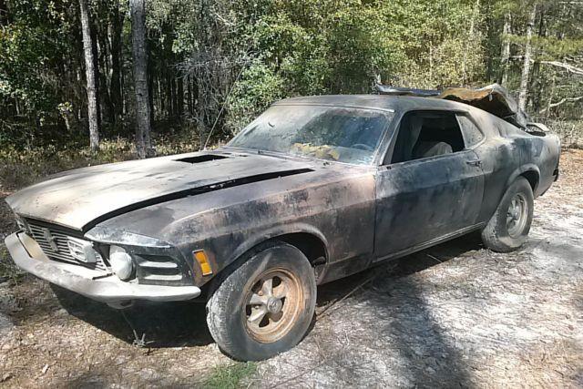 1970 fast back mach i mustang project car restorable for sale in brooksville florida. Black Bedroom Furniture Sets. Home Design Ideas