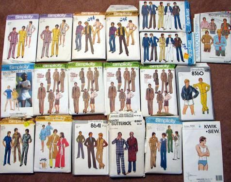1970's Men's Clothing Patterns for Sale in Maynard ...