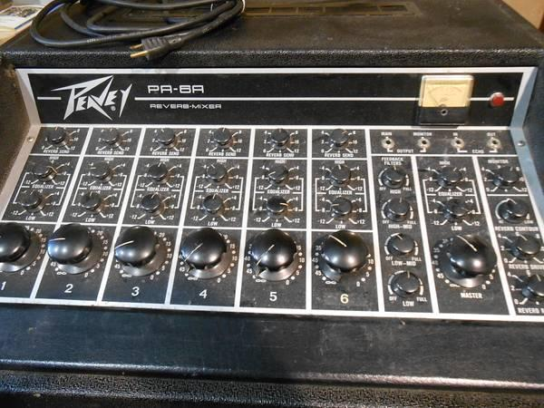 1970 S Peavey Series 400 Pa Reverb Mixer Amp Pa 6a For