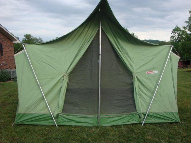 1970s Coleman Vintage 10 x 8 Oasis Green Canvas Tent & 1970s Coleman Vintage 10 x 8 Oasis Green Canvas Tent for Sale in ...