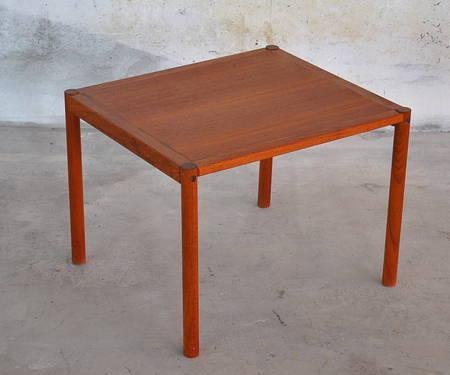 1970s vintage danish modern teak side end table mid for Mid century furniture florida