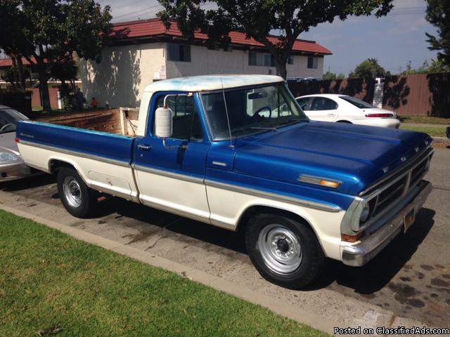1971 ford f250 custom sports classic truck obo for sale in los angeles california classified. Black Bedroom Furniture Sets. Home Design Ideas