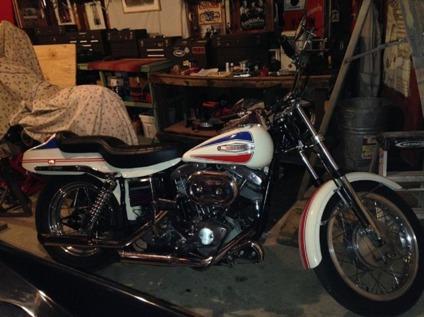 1971 Harley-Davidson FX Superglide Boattail  Shipping Free  White 1200cc