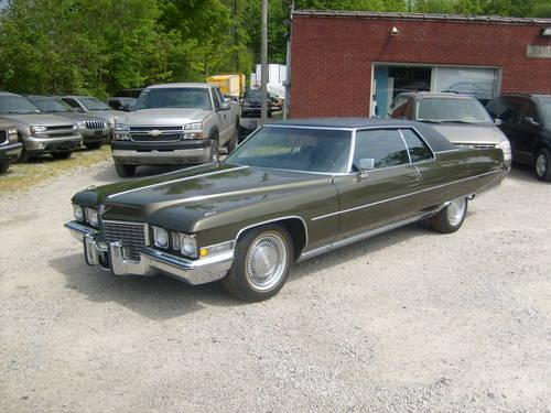 1972 cadillac coupe deville for sale in east orwell ohio. Black Bedroom Furniture Sets. Home Design Ideas