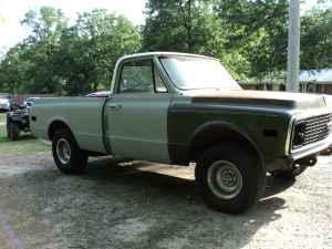 1972 chevy swb truck roller - $1000